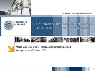 Un'introduzione alla scienza e alle tecnologie dell'informazione e della comunicazione