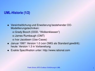 UML-Historie (1/2)