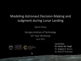 Modeling Astronaut Decision-Making and Judgment during Lunar Landing
