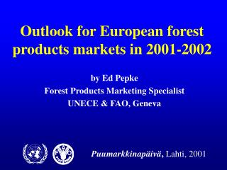 Outlook for European forest products markets in 2001-2002