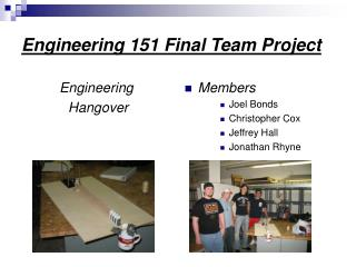 Engineering 151 Final Team Project