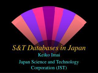S&T Databases in Japan