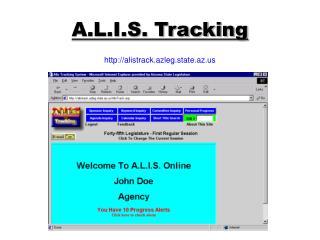 A.L.I.S. Tracking