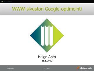 WWW-sivuston Google-optimointi