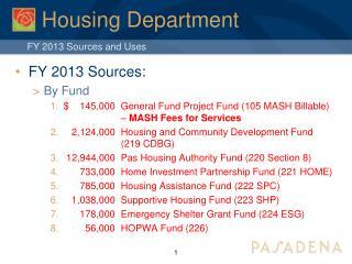 Housing Department