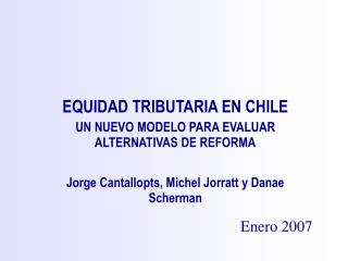 EQUIDAD TRIBUTARIA EN CHILE