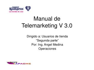 Manual de  Telemarketing V 3.0