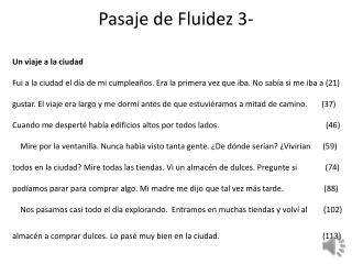 Pasaje  de  Fluidez  3-