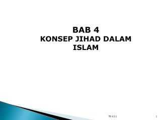 BAB 4 KONSEP JIHAD DALAM ISLAM