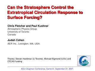 Can the Stratosphere Control the Extratropical Circulation Response to Surface Forcing?