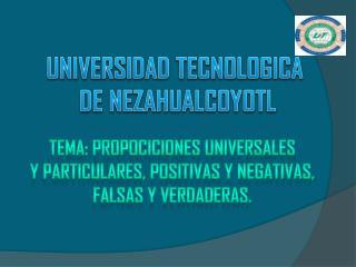 UNIVERSIDAD TECNOLOGICA  DE NEZAHUALCOYOTL