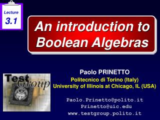 An introduction to Boolean Algebras