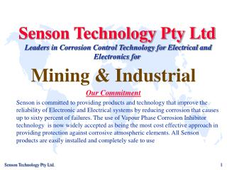 Mining & Industrial Our Commitment