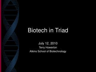 Biotech in Triad