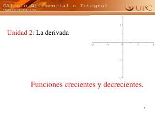Unidad 2:  La derivada