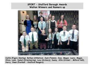 SPORT – Stafford Borough Awards Walton Winners and Runners up