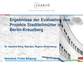 Ergebnisse der Evaluation des Projekts Stadtteilmütter in Berlin-Kreuzberg
