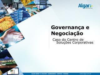 Governança e Negociação