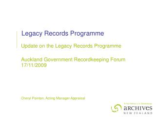 Legacy Records Programme