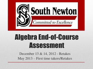 Algebra End-of-Course Assessment