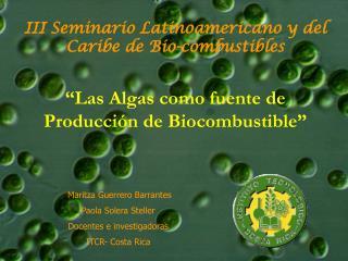 III Seminario Latinoamericano y del Caribe de Bio-combustibles