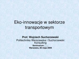 Eko-innowacje w sektorze transportowym
