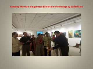Sandeep Marwah Inaugurated Exhibition of Paintings by Surbhi