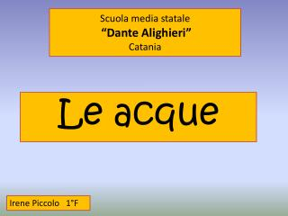 "Scuola media statale ""Dante Alighieri"" Catania"