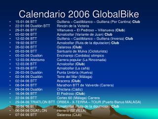 Calendario 2006 GlobalBike