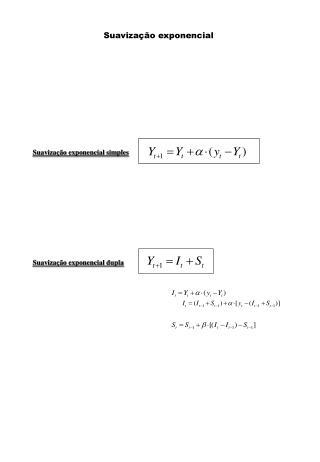 Suavização exponencial simples