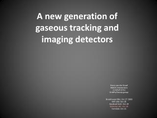 A new generation of gaseous tracking and imaging detectors