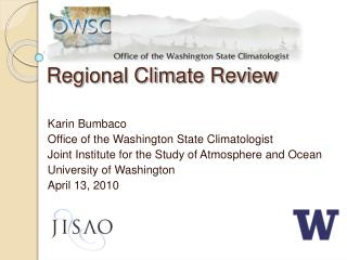 Regional Climate Review