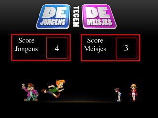 Score Jongens