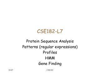 CSE182-L7