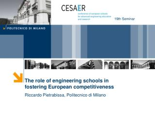 The role of engineering schools in fostering European competitiveness