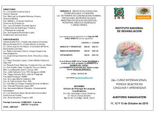 DIRECTORIO Dr. Luis Guillermo Ibarra Ibarra Director General