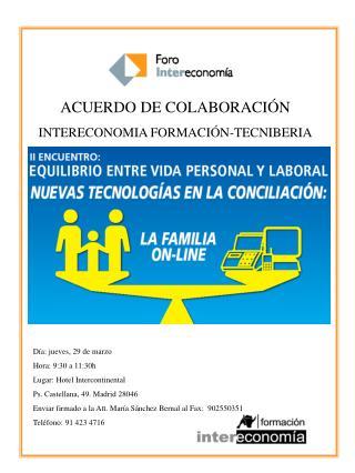 ACUERDO DE COLABORACIÓN INTERECONOMIA FORMACIÓN-TECNIBERIA