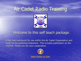 Air Cadet Radio Training