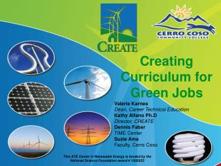 Creating Curriculum for Green Jobs
