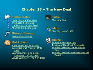 Chapter 15 � The New Deal
