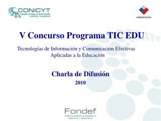 V Concurso Programa TIC EDU