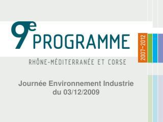 Journ e Environnement Industrie du 03