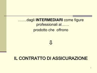 …….dagli  INTERMEDIARI  come figure professionali al…… prodotto che  offrono ⇩