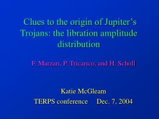 Clues to the origin of Jupiter s Trojans: the libration amplitude distribution