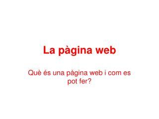 La pàgina web