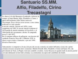 Santuario SS.MM. Alfio, Filadelfo, Cirino Trecastagni