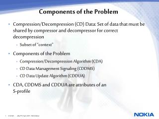 Components of the Problem