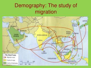 Demography: The study of migration