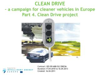 CLEAN DRIVE  – a campaign for cleaner vehicles in Europe Part 4. Clean Drive project