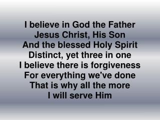 002 - Cred in Dumnezeu ca Tata